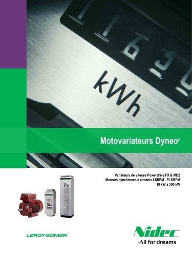 Motovariateurs Dyneo: Powerdrive FX / MD2 + LSRPM / HPM