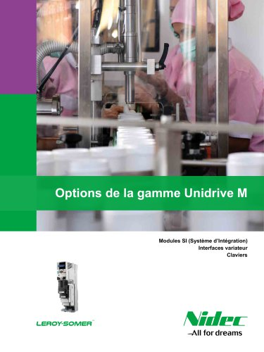 Options de la gamme Unidrive M