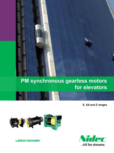 PM synchronous gearless motors for elevators