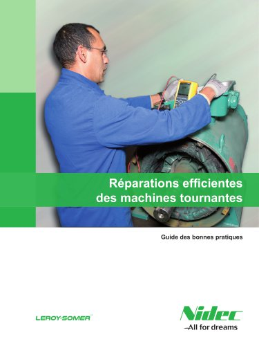 Réparations efficientes des machines tournantes