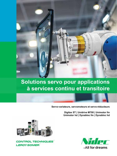 Solutions servo pour applications à services continu et transitoire