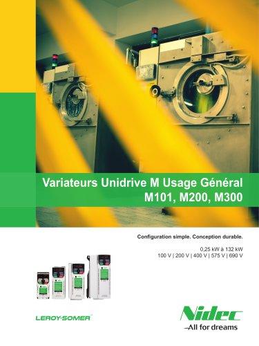 Variateurs Unidrive M Usage Général M101, M200, M300