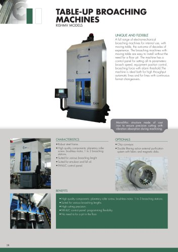 TABLE-UP BROACHING MACHINES