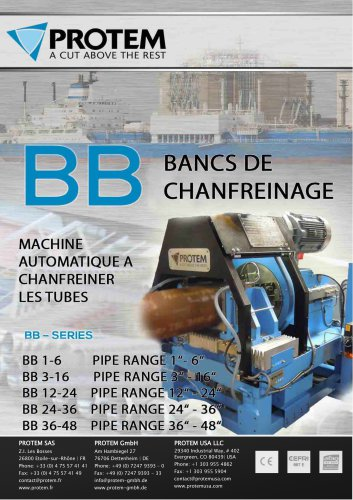 BB Series - Bancs de chanfreinage