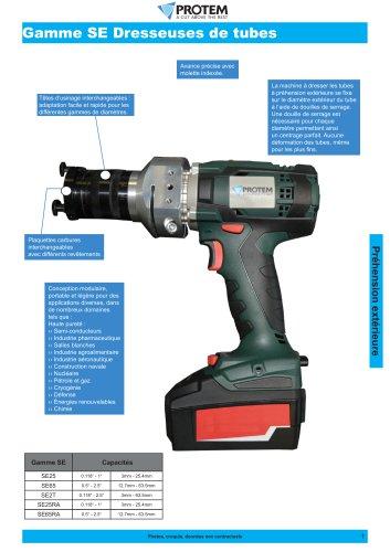 MACHINES À DRESSER LES TUBES À PRÉHENSION EXTÉRIEURE - GAMME SE
