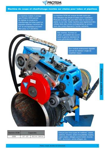 OCM - Machine orbitale coupe et chanfreinage