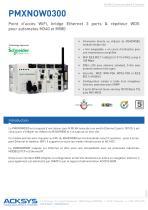 Point d'accès WiFi, bridge Ethernet 3 ports & répéteur WDS pour automates M340 et M580