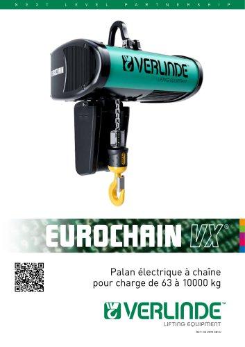 PALAN ELECTRIQUE A CHAINE EUROCHAIN VX