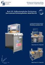 Semi-automatic Portioning Machine. Model Rock 20