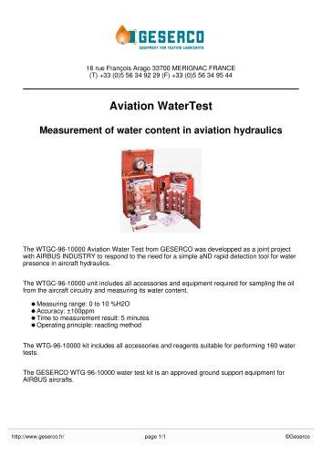 Aviation WaterTest