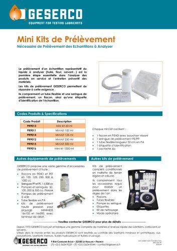 Mini Kit de Prélèvement