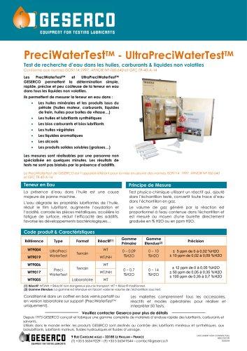 UltraPreciWaterTest®