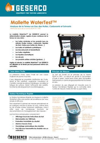 WaterTestTM Kit