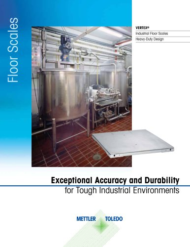 Vertex Industrial Floor Scales