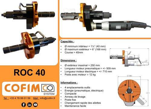 ROC 40 - Machine à chanfreiner les tubes à préhension interne