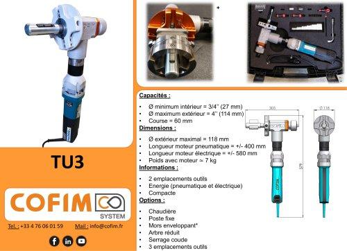 TU3 - Machine à chanfreiner les tubes à préhension interne