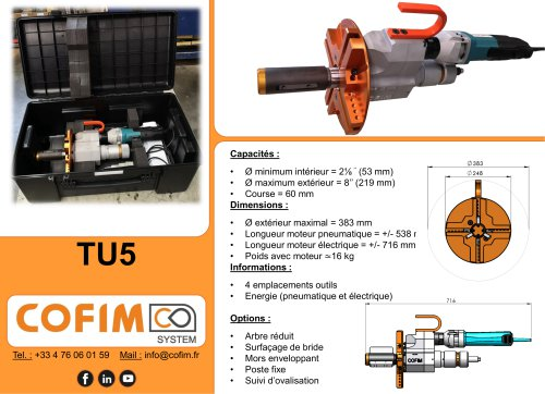 TU5 - Machine à chanfreiner les tubes à préhension interne