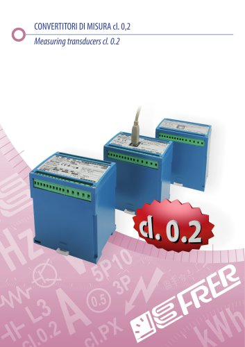 Measuring transducers cl. 0.2
