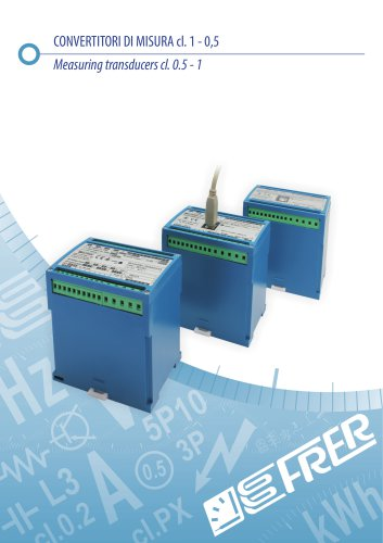 Measuring transducers cl. 0.5 - 1