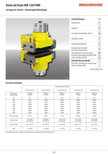 Etrier de frein hydrauliques HW 120 FHM RINGSPANN