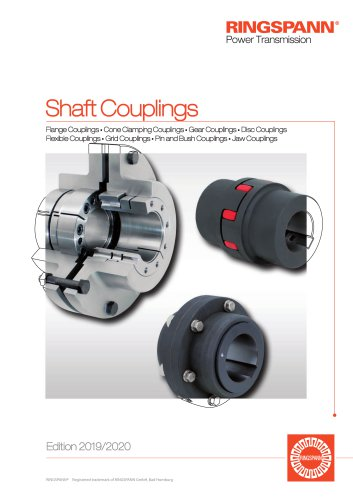 Rigid Shaft Couplings, Torsionally Rigid Shaft Couplings, Elastic Shaft Couplings