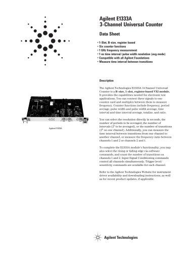 E1333A 3-Channel Universal Counter