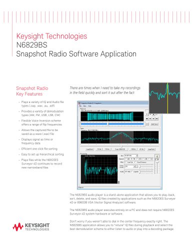 N6829BS Snapshot Radio Software Application