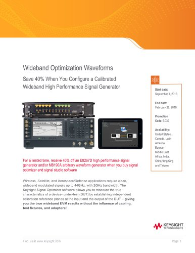 Wideband High Performance Signal Generator