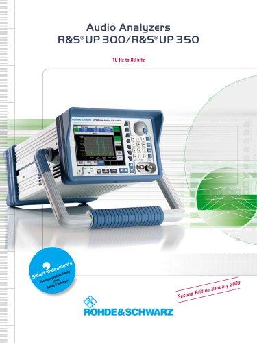 Audio Analyzers ¸UP 300/¸UP 350