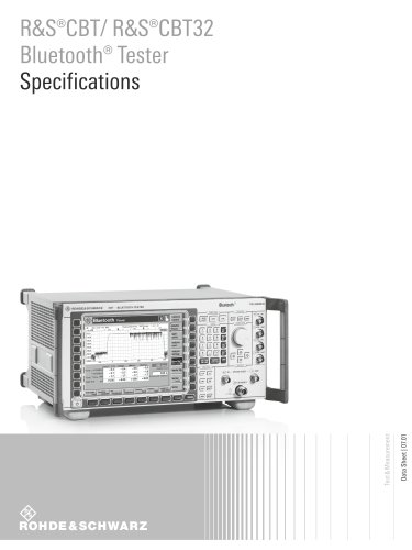 R&S®CBT/ R&S®CBT32 Bluetooth® Tester