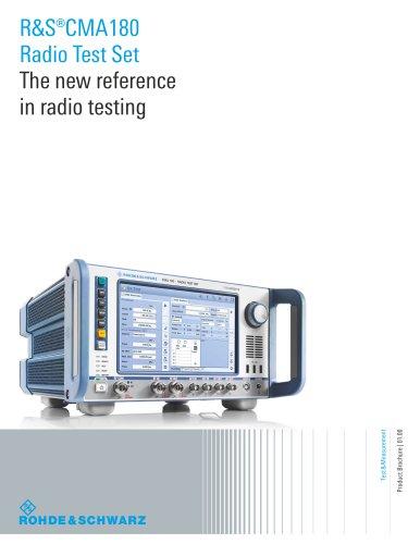 R&S®CMA180 Radio Test Set
