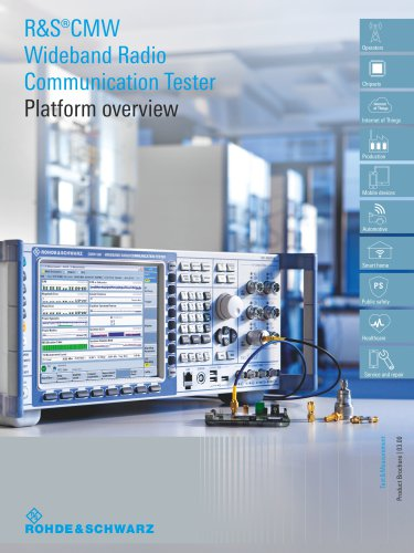 R&S®CMW Wideband Radio Communication Tester