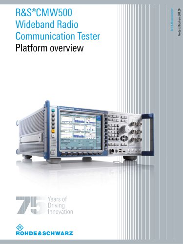 R&S®CMW500 Platform overview