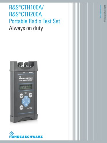 R&S®CTH100A/R&S®CTH200A Portable Radio Test Set