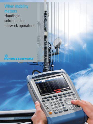 R&S®FSH Handheld Spectrum Analyzer