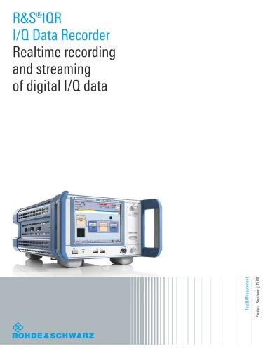 R&S®IQR I/Q Data Recorde