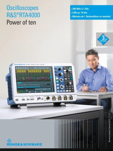 R&S®RTA4000 Oscilloscope
