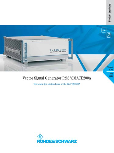 R&S®SMATE200A Vector Signal Generator