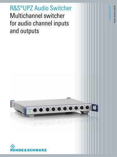 R&S®UPZ Audio Switcher