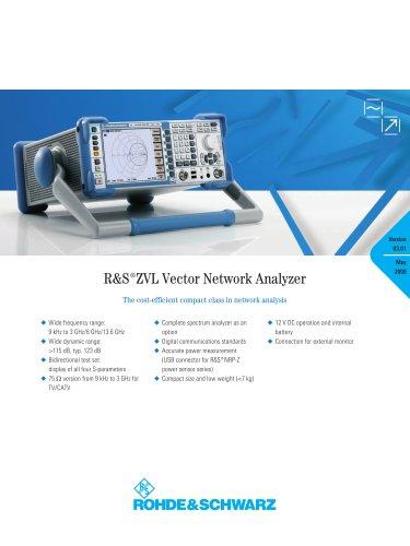 R&S®ZVL Vector Network Analyzers