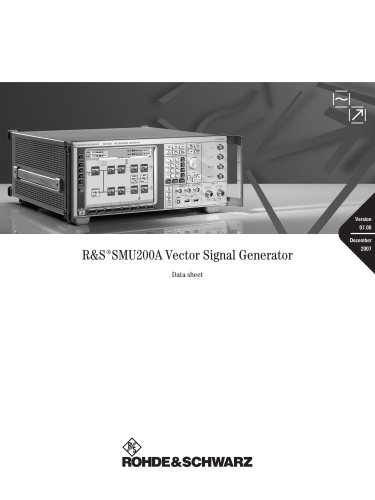 SMU200A Vector Signal Generator