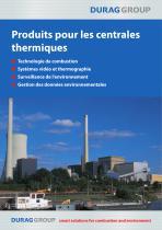 DURAG Produits pour les centrales thermiques