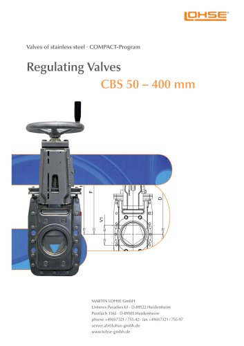 Regulating Valves CBS
