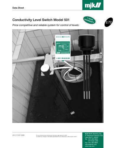 Conductivity Level Switch Model 501