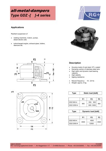 all-metal-dampers compression-tension elements type GDZ-4