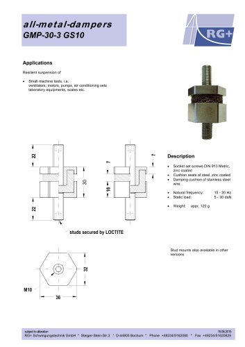 all-metal-dampers GMP-30-3 GS10
