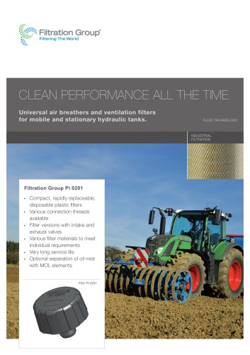 Filtration Group Air Breathers and Ventilation Filters