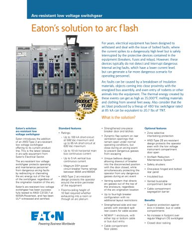 Eaton?s solution to arc flash