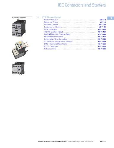 IEC Contactors and Starters