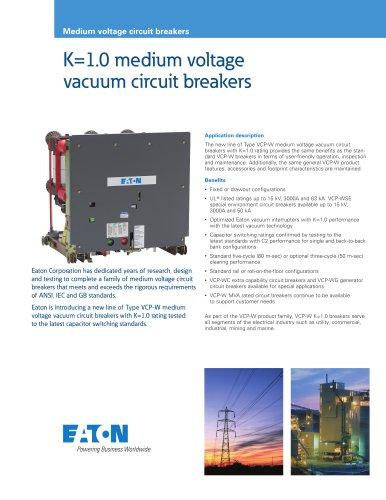 Medium voltage circuit breakers